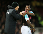 West Ham's Slaven Bilic sorts out Michail Antonio&rsquo;s bandage<br /> <br /> - English Premier League - West Ham Utd vs Tottenham  Hotspur - Upton Park Stadium - London - England - 2nd March 2016 - Pic David Klein/Sportimage