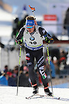 09/12/2016, Pokljuka - IBU Biathlon World Cup.<br /> Lukas Hofer competes at the sprint race in Pokljuka, Slovenia on 09/12/2016. French Martin Fourcade ended first and keeps it's yellow jersey.