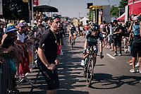 Rafał Majka (POL/BORA-hansgrohe) rolling in<br /> <br /> Stage 3 (Team Time Trial): Cholet > Cholet (35km)<br /> <br /> 105th Tour de France 2018<br /> ©kramon