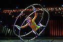 London, UK. 04.01.2014. Cirque du Soleil present QUIDAM at the Royal Albert Hall. Cory Sylvester on the German Wheel. © Jane Hobson.