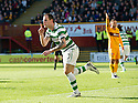 CELTIC'S ANTHONY STOKES CELEBRATES AFTER HE SCORES CELTIC'S FIRST