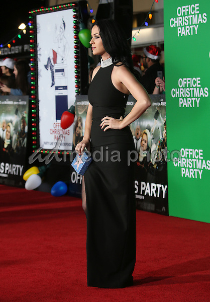 "07 December 2016 - Westwood, California - Katy Perry.  ""Office Christmas Party"" Paramount Pictures Los Angeles Premiere held at Regency Village Theatre. Photo Credit: F. Sadou/AdMedia"