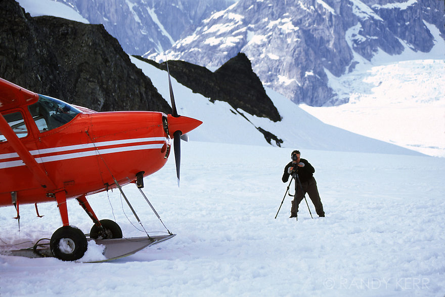 Glacier landing on Mt. McKinley