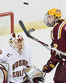 - The Boston College Eagles defeated the University of Minnesota Golden Gophers 5-2 on Saturday, March 29, 2008, in the NCAA Northeast Regional Semi-Final at the DCU Center in Worcester, Massachusetts.