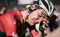 Finishing a close 4th in his dream race left Jasper Stuyven (BEL/Trek-Segafredo) overwhelmed at the finish when just missing out on the podium<br /> <br /> 115th Paris-Roubaix 2017 (1.UWT)<br /> One Day Race: Compiègne › Roubaix (257km)