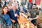 Marsha Bodmar, Mike Bodmar, Cyrille Durand, pictured at Torc Brewing stand at the Killarney Beerfest, held at the INEC, Killarney on Saturday evening last.