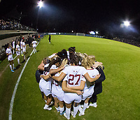 STANFORD, CA - NOVEMBER 22: Stanford, CA - November 22, 2019: Team at Laird Q. Cagan Stadium. The Stanford Cardinal defeated Hofstra 4-0 in the second round of the NCAA tournament. during a game between Hofstra and Stanford Soccer W at Laird Q. Cagan on November 22, 2019 in Stanford, California.