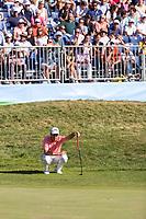 Nino Bertasio (ITA) on the 18th during the third round of the Mutuactivos Open de Espana, Club de Campo Villa de Madrid, Madrid, Madrid, Spain. 05/10/2019.<br /> Picture Hugo Alcalde / Golffile.ie<br /> <br /> All photo usage must carry mandatory copyright credit (© Golffile | Hugo Alcalde)