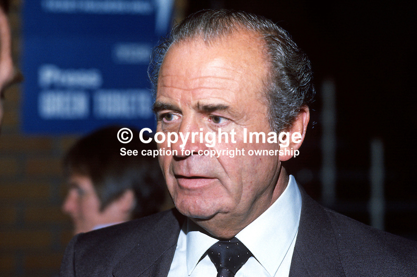 Ron Todd, general secretary, ATGWU, Amalgamated Transport &amp; General Workers' Union, trade union, UK, at Trades Union Congress annual conference 1984. 19840105RT1.<br /> <br /> Copyright Image from Victor Patterson, 54 Dorchester Park, Belfast, UK, BT9 6RJ<br /> <br /> t1: +44 28 9066 1296<br /> t2: +44 28 9002 2446<br /> m: +44 7802 353836<br /> <br /> e1: victorpatterson@me.com<br /> e2: victorpatterson@gmail.com<br /> <br /> www.victorpatterson.com<br /> <br /> IMPORTANT: Please see my Terms and Conditions of Use at www.victorpatterson.com