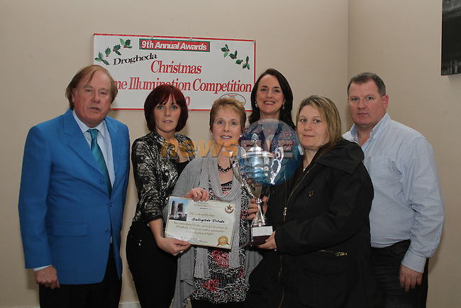 Jacqueline Aspell and Tracey Matthews accept the award on behalf of Ballsgrove Estate at the Christmas Illumination Awards in the d Hotel...(Photo credit should read Jenny Matthews/www.newsfile.ie)....This Picture has been sent you under the conditions enclosed by:.Newsfile Ltd..The Studio,.Millmount Abbey,.Drogheda,.Co Meath..Ireland..Tel: +353(0)41-9871240.Fax: +353(0)41-9871260.GSM: +353(0)86-2500958.email: pictures@newsfile.ie.www.newsfile.ie.