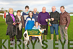 O'Carroll-O'Connor Cup Winners : Presentation of the O'Carroll-O'Connor cup to the winning owners of Brigh Engine at Lixnaw Coursing on Sunday last.L-T: Carmel harty, Catherine Galvin, Sean O'Carroll, Johnny O'carroll, Eddie Harty, Muiris Galvin & Paddy Quilter, Sponsor. Front : Marie O'Connor & Caroline O'Carroll .