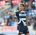 Danny Cipriani of Sale Sharks - Aviva Premiership - Sale Sharks vs Wasps  - AJ Bell Stadium - Salford, Manchester - 5th October 2014  - Picture Simon Bellis/Sportimage