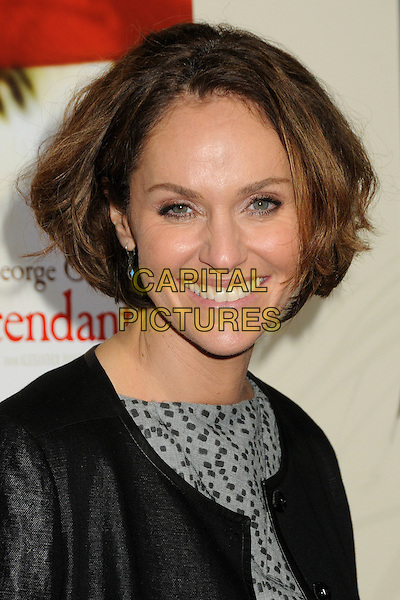 Amy Brenneman.Premiere of 'The Descendants' held at The Academy of Motion Pictures, Arts & Sciences in Beverly Hills, California, USA..November 15th, 2011.headshot portrait smiling black grey gray print  .CAP/ADM/BP.©Byron Purvis/AdMedia/Capital Pictures.