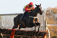 Jimbill ridden by Richard Johnson on the way to victory in the Hempton National Hunt Maiden Hurdle