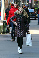 www.acepixs.com<br /> <br /> March 2 2017, New York City<br /> <br /> Actress Dakota Fanning carries some shopping in Soho on March 2 2017 in New York City<br /> <br /> By Line: Zelig Shaul/ACE Pictures<br /> <br /> <br /> ACE Pictures Inc<br /> Tel: 6467670430<br /> Email: info@acepixs.com<br /> www.acepixs.com