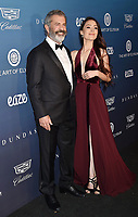 LOS ANGELES, CA - JANUARY 05: Mel Gibson (L) and Rosalind Ross attend Michael Muller's HEAVEN, presented by The Art of Elysium at a private venue on January 5, 2019 in Los Angeles, California.<br /> CAP/ROT/TM<br /> &copy;TM/ROT/Capital Pictures