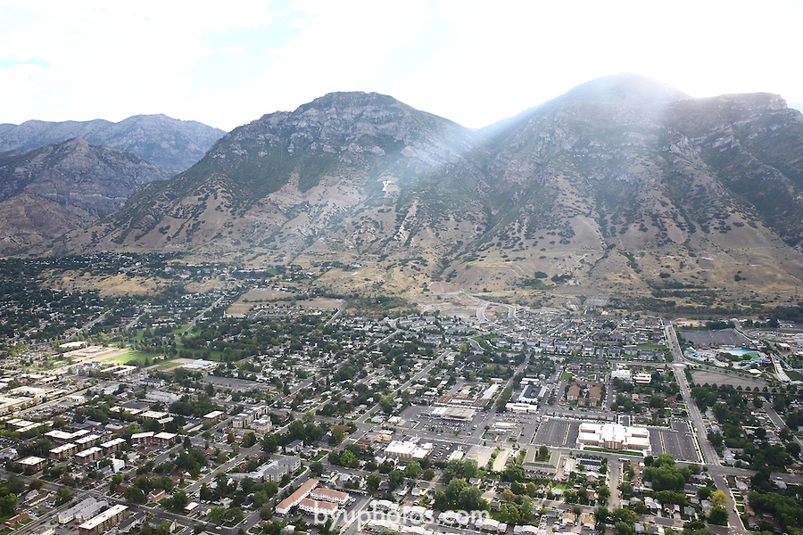 1309-22 0227<br /> <br /> 1309-22 BYU Campus Aerials<br /> <br /> Brigham Young University Campus West looking East, Provo, Sunrise, Y Mountain, South Campus<br /> <br /> September 6, 2013<br /> <br /> Photo by Jaren Wilkey/BYU<br /> <br /> &copy; BYU PHOTO 2013<br /> All Rights Reserved<br /> photo@byu.edu  (801)422-7322