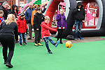 Young fans enjoy a Girls' Football Week event outside the stadium before  the Championship league match at Bramall Lane Stadium, Sheffield. Picture date 28th April, 2018. Picture credit should read: Harry Marshall/Sportimage