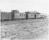 Three D&amp;RGW cabooses near the Alamosa depot.<br /> D&amp;RGW  Alamosa, CO