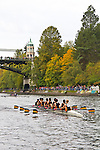 Rowing, Head of the Lake Regatta, November 2 2014, Seattle, Rose City Rowing Club, crew,  men's jr JV 8+, Washington State, Lake Washington Rowing Club, Lake Washington Ship Canal, Montlake Cut
