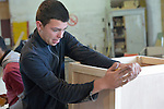 A student in a woodworking class at the Instituto de Buena Voluntad (the Good Will Institute) in Montevideo, Uruguay. Sponsored by the Methodist Church of Uruguay, the institute works with youth and adults with disabilities. It receives financial support from United Methodist Women.
