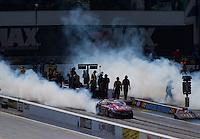 Sep 17, 2016; Concord, NC, USA; NHRA pro stock driver Greg Anderson during qualifying for the Carolina Nationals at zMax Dragway. Mandatory Credit: Mark J. Rebilas-USA TODAY Sports
