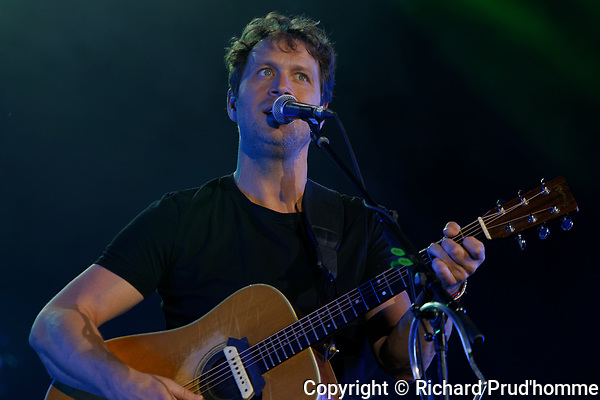 Montreal, Canada. Kevin Parent  performs on stage at the Francos de Montreal music festival in downtown Montreal