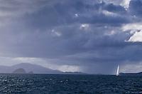 Sailing in Pillsbury Sound<br /> U.S. Virgin Islands