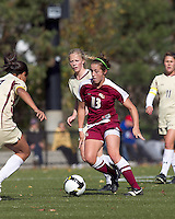 Florida State midfielder Amanda DaCosta (13) dribbles. Florida State University defeated Boston College, 1-0, at Newton Soccer Field, Newton, MA on October 31, 2010.