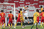 China PR vs Australia during the 2016 AFC U-19 Championship Group D match at Bahrain National Stadium on 15 October 2016, in Manama, Bahrain. Photo by Jaffar Hasan / Lagardere Sports