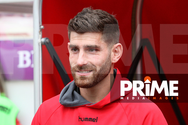 Fleetwood Town's Ched Evans before the Sky Bet League 1 match between Sunderland and Fleetwood Town at the Stadium Of Light, Sunderland, England on 8 September 2018. Photo by Stephen Hadlow/MI News & Sport/PRiME Media Images.