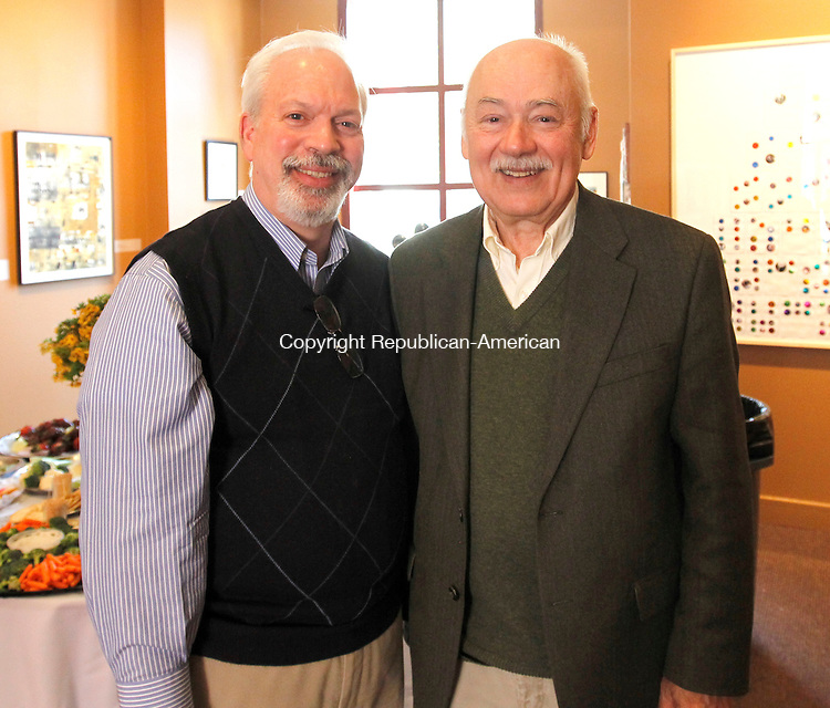 Waterbury, CT-29 April 2012-042912CM12-  Social moments: L-R Michael Santoro of Waterbury and Ron Hluska of Southbury at the Waterbury Chorale Gala Sunday afternoon at the Mattatuck Museum in Waterbury.    Christopher Massa Republican-American