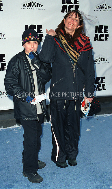 "KAREN ALLEN and her son NICK BROWN attend the world premiere of ""Ice Age"" at the Radio City Music Hall in New York. March 10, 2002. © 2002 by Alecsey Boldeskul/NY Photo Press.   ..*PAY-PER-USE*      ....NY Photo Press:  ..phone (646) 267-6913;   ..e-mail: info@nyphotopress.com"