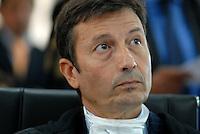 L'Aquila. la seconda udienza del processo alla commissione grandi rischi. 1°ottobre 2011. L'avvocato Francesco Petrelli, difensore di Franco Barberi , presidente vicario della Commissione Grandi Rischi.
