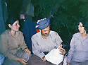 Iraq 1981 .In Toujala, Jabar Fermand with his wife, Sabiha, and Pakchan Hafid   .Irak 1981 .A Toujala, Jabar Fermand avec sa femme Sabiha et Pakchan Hafid