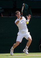 ANDY MURRAY (GBR)<br /> The Championships Wimbledon 2014 - The All England Lawn Tennis Club -  London - UK -  ATP - ITF - WTA-2014  - Grand Slam - Great Britain -  2nd July  2014. <br /> <br /> &copy; AMN IMAGES
