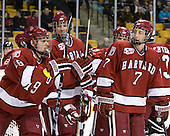 Alex Killorn (Harvard - 19), Brendan Rempel (Harvard - 42), Danny Fick (Harvard - 7) - The Northeastern University Huskies defeated the Harvard University Crimson 4-0 in their Beanpot opener on Monday, February 7, 2011, at TD Garden in Boston, Massachusetts.
