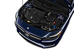 Car Stock 2017 Mercedes Benz CLA-Class CLA250 4 Door Sedan Engine  high angle detail view