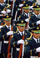 Soldiers marching, Tokyo, Japan