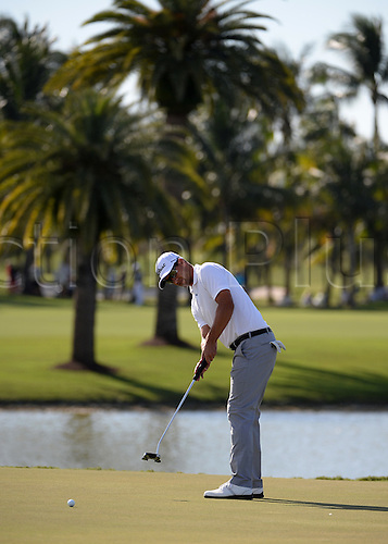 06.03.2016. Doral, Florida, USA.   Danny Willett from England on the 9th green  during the final round of the World Golf Championships-Cadillac Championships - Final Round at Trump National Doral in Doral, FL