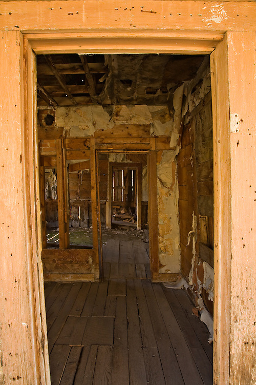 Doorways inside an old home in the Animas Forks ghost town