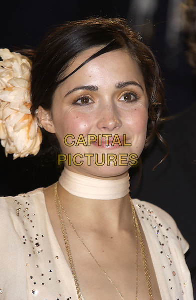 "ROSE BYRNE.Screening of ""Troy"".Cannes Film Festival, .France 13 May 2004..portrait headshot large peach flower in hair.sales@capitalpictures.com.www.capitalpictures.com.©Capital Pictures..."