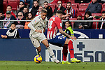 Atletico de Madrid's Jose Maria Gimenez and Real Madrid's Mariano Diaz during La Liga match between Atletico de Madrid and Real Madrid at Wanda Metropolitano Stadium in Madrid, Spain. February 09, 2019. (ALTERPHOTOS/A. Perez Meca)