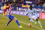 Atletico de Madrid's Sime Vrsaljko and Celta de Vigo's Pione Sisto during La Liga match between Atletico de Madrid and Celta de Vigol at Vicente Calderon Stadium in Madrid, Spain. December 03, 2016. (ALTERPHOTOS/BorjaB.Hojas)