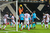 Milton Keynes Dons'  Lee Nicholls takes a cross in the dying seconds of the game<br /> <br /> Photographer Andrew Kearns/CameraSport<br /> <br /> The EFL Sky Bet League One - Milton Keynes Dons v Fleetwood Town - Saturday 11th November 2017 - Stadium MK - Milton Keynes<br /> <br /> World Copyright &copy; 2017 CameraSport. All rights reserved. 43 Linden Ave. Countesthorpe. Leicester. England. LE8 5PG - Tel: +44 (0) 116 277 4147 - admin@camerasport.com - www.camerasport.com