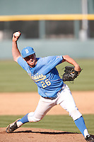 David Berg #26 of the UCLA Bruins pitches against the California Golden Bears at Jackie Robinson Stadium on March 23, 2013 in Los Angeles, California. (Larry Goren/Four Seam Images)