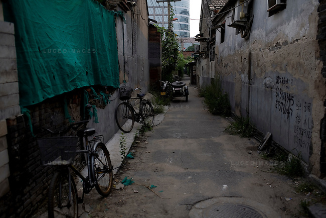 An alleyway of a traditional hutong in Beijing, China on Wednesday, August 20, 2008.  Kevin German