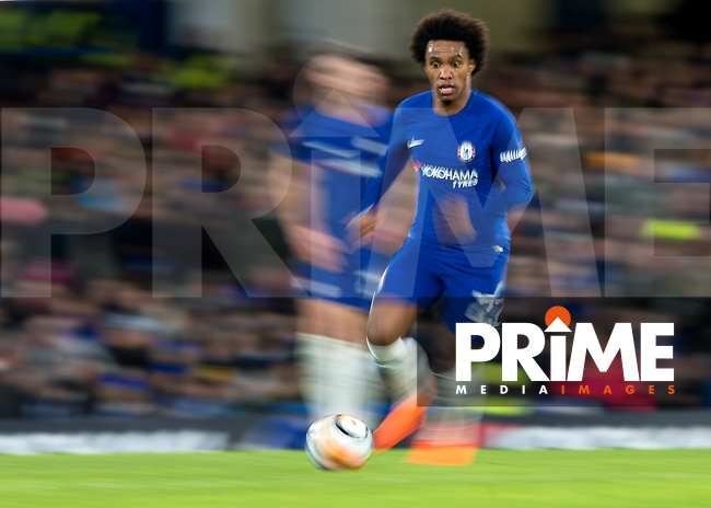 Willian of Chelsea in action during the FA Cup 5th round match between Chelsea and Hull City at Stamford Bridge, London, England on 16 February 2018. Photo by Vince  Mignott / PRiME Media Images.