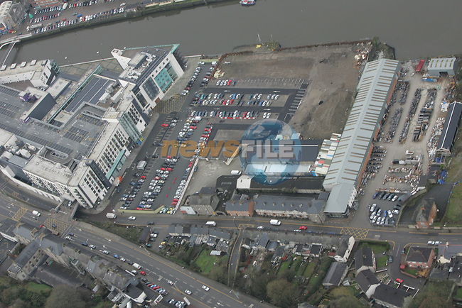 Aerial of Drogheda..Marsh Road  Looking North west including Scotch Hall and caffrey Monumental works part of Dublin Road..Photo: Fran Caffrey/ Newsfile.