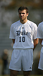 Duke's Michael Videira on Sunday, November 19th, 2006 at Koskinen Stadium in Durham, North Carolina. The Duke Blue Devils defeated the Lehigh University Mountain Hawks 3-0 in an NCAA Division I Men's Soccer Championship third round game.